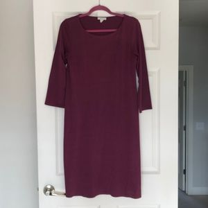 Anthropologie Garnet Hill Stretch Swing Midi Dress